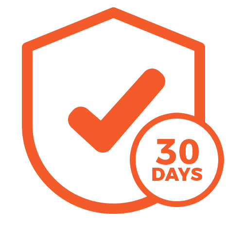 We offer a 30 Day Guarantee